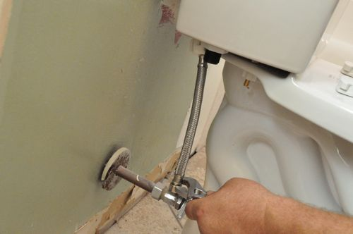 how to install a new toilet attaching supply line