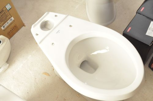 assembling toilet bowl without tank