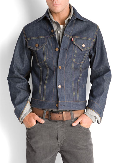 layering with denim jean jacket and button up shirt