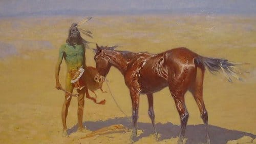 """Ridden Down"" Frederic Remington painting old west art"
