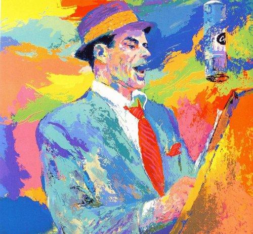 leroy nieman frank sinatra painting colorful