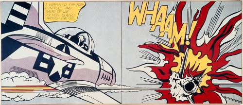"His most famous work, ""Whaam"" was taken from DC Comics'  ""All American Men of War,"" published in 1962."