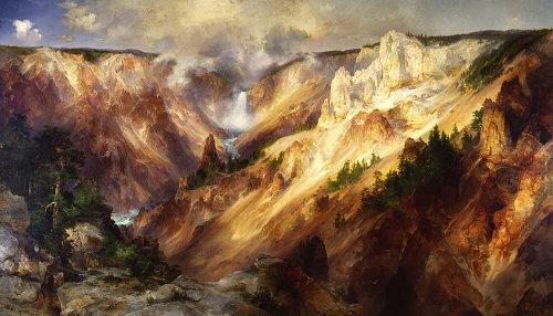 thomas moran grand canyon of yellowstone painting landscape