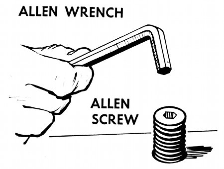 illustration allen wrench hex key allen screw