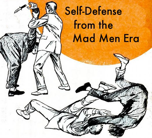 Vintage self defense illustrations judo mad men era.