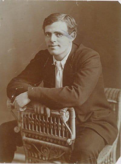 jack london portrait sitting posing in chair