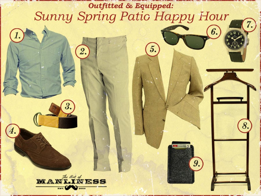 outfit what to wear for spring happy hour on patio