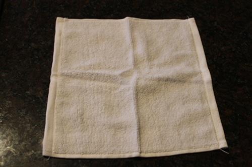 White color towel illustration.