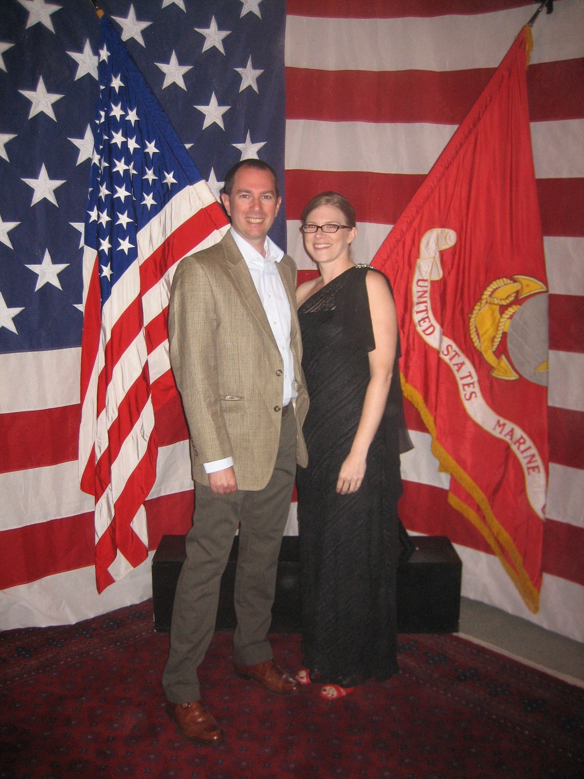 Me and my wife Jennifer at the recent Marine Ball in Kabul.