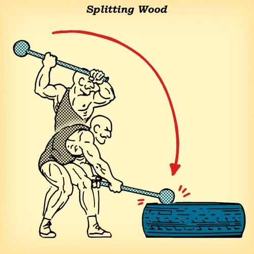 steel mace 360 splitting wood how to diagram illustration