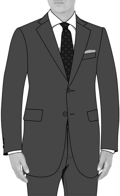 illustration how a suit jacket should fit