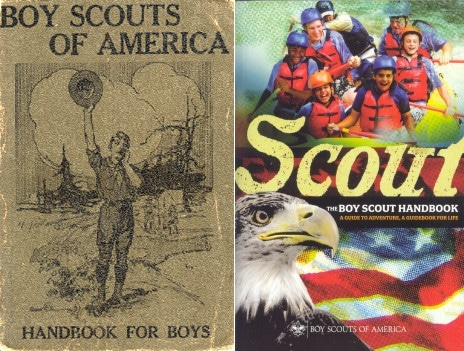 Vintage boys scouts of America handbook for boys.