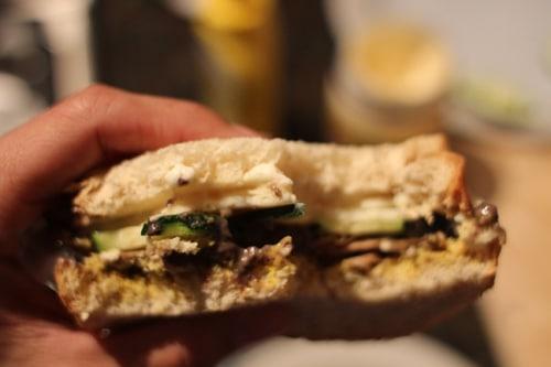 Veggie black bean sandwich.