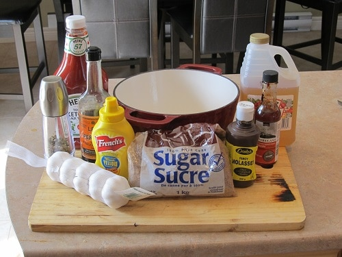 ingredients for homemade bbq barbecue sauce