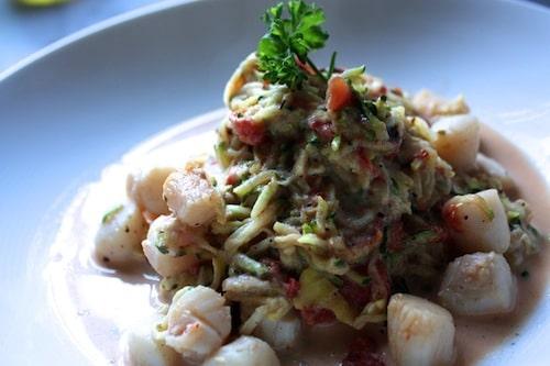 Bay Scallop Scampi + Zucchini 'Pasta'