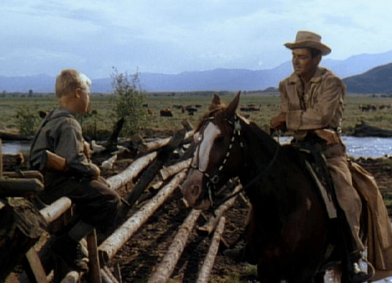 shane old western movie shane talking with young boy