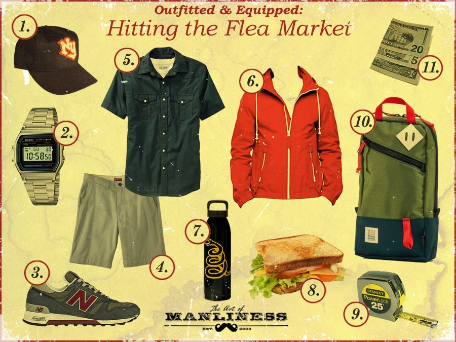what to bring and wear to a flea market