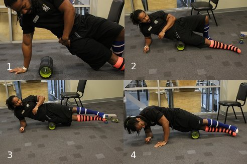 using foam roller on it band