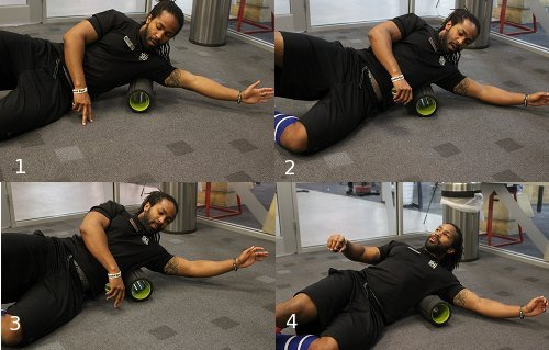 Foam roller exercises for lasts side of body.