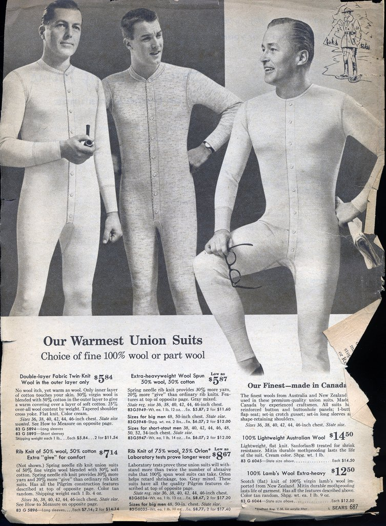 vintage union suit advertisement