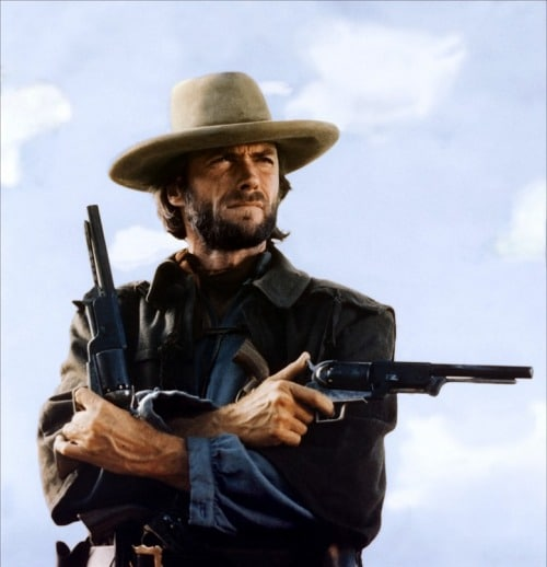 outlaw nosey wales old western film clint eastwood with guns