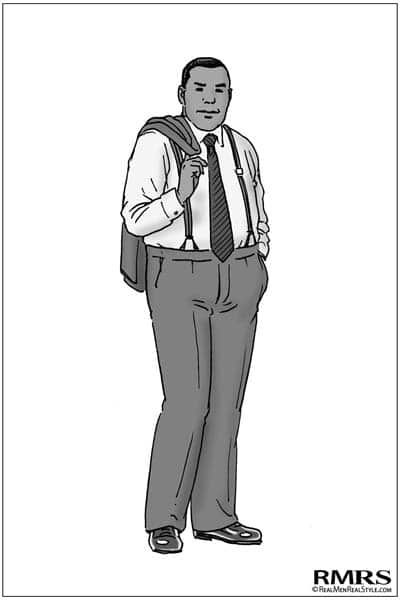 Formal man wearing suspenders by RMRS.