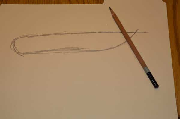 Patter for homemade knife on paper.