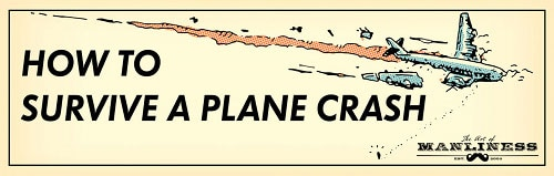 survive plane crash airplane going down splitting up in air illustration