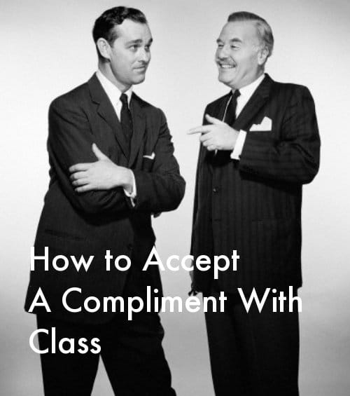 vintage businessmen talking giving compliment