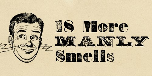 Vintage manly smells header.