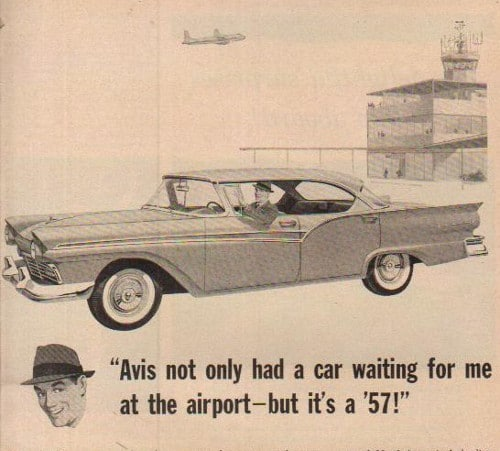 vintage car automobile rental ad advertisement avis