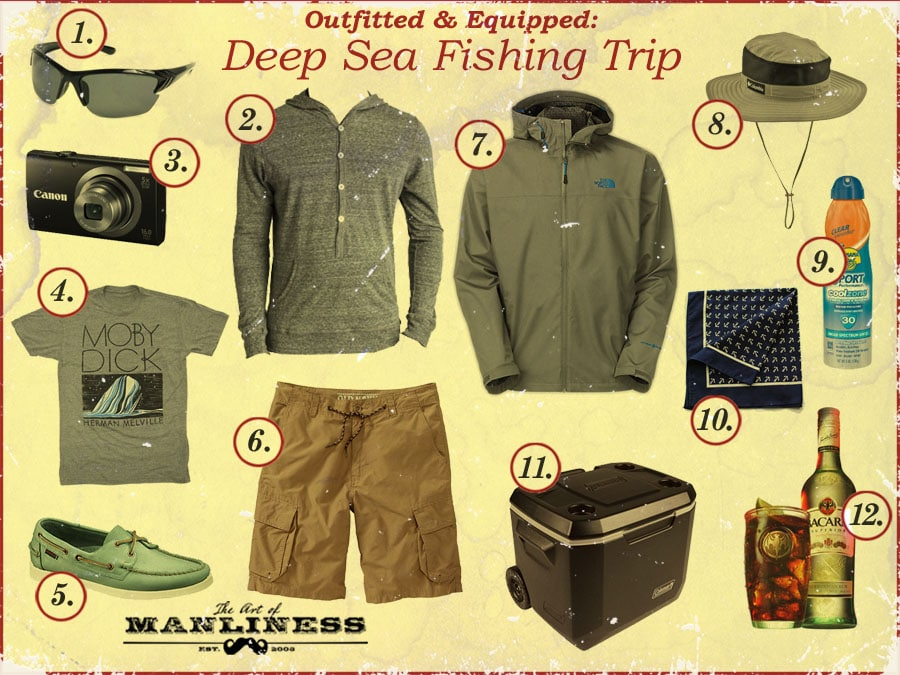 what to wear on a deep sea fishing trip expedition