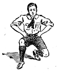 boy scouts vintage illustration cure a side stitch