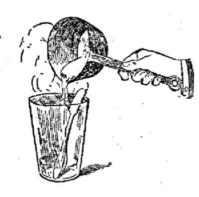 boy scouts vintage illustration water in glass