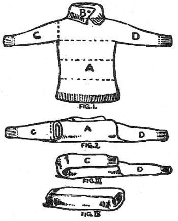 boy scouts vintage illustration folding sweater
