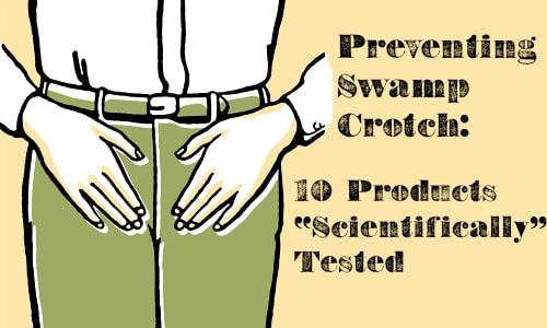 preventing swamp crotch illustration man touching groin