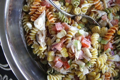Dungeness Crab Pasta Salad