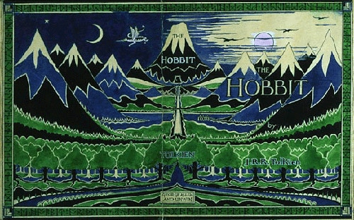 The hobbit JRR tolkien first edition book cover.