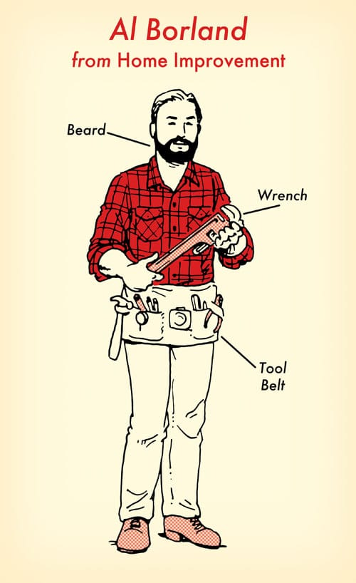 Al borland home improvement halloween costume red flannel shirt illustration.