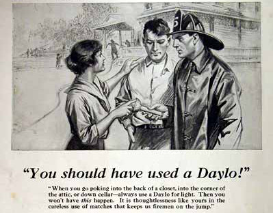 vintage daylo flashlight ad advertisement