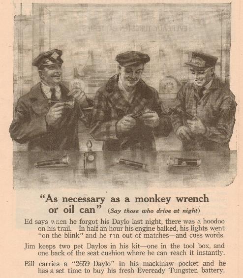 vintage flashlight ad advertisement police officers
