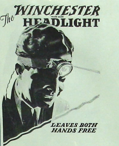 winchester head lamp vintage ad advertisement