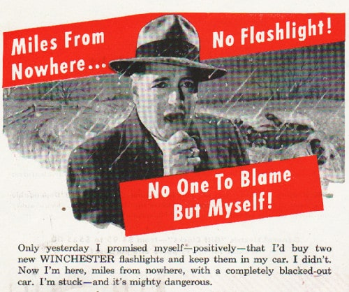 Vintage Winchester flashlights ad advertisement.