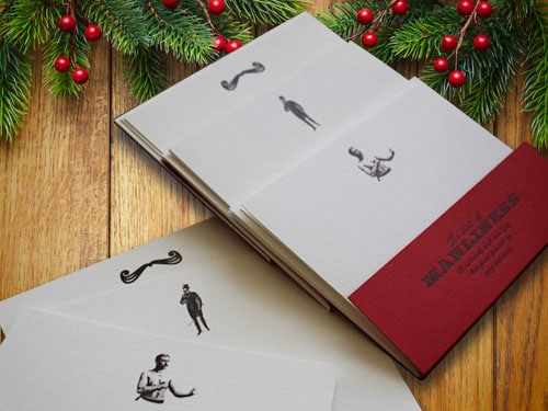 Art of manliness stationery with christmas background.
