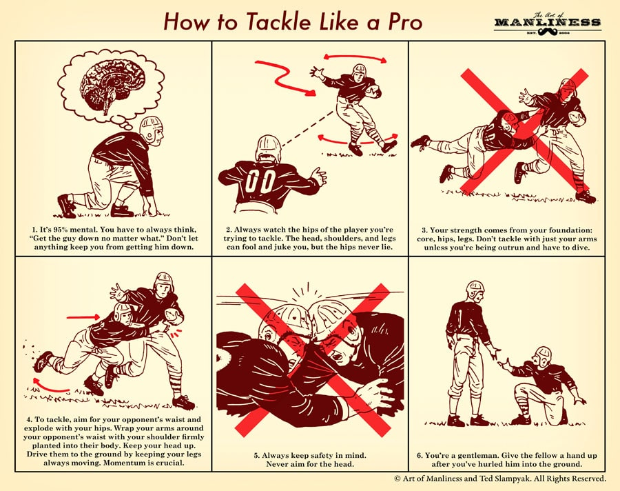 How to Tackle Like an NFL Pro | The Art of Manliness