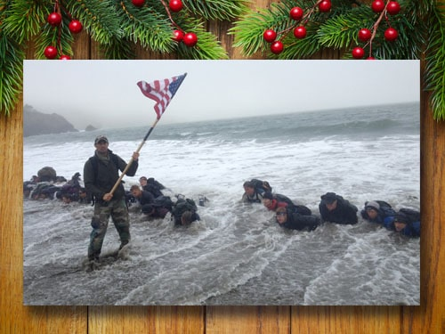 GORUCK challenge with christmas background.