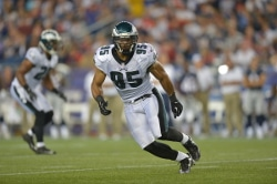 Michael Kendricks at Eagles v. Patriots - Aug 2012, courtesy of Philadelphia Eagles