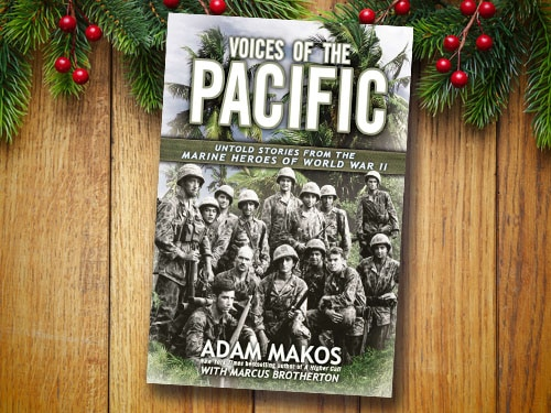 Voices of the pacific by Marcus Brotherton, book cover.