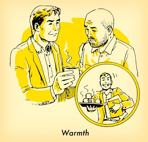 man bringing another mana cup of coffee illustration