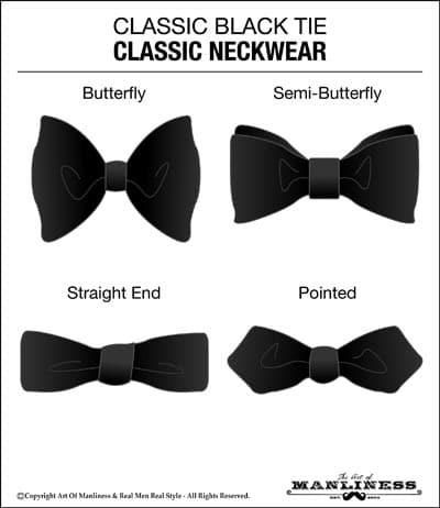 classic black tie bowtie neckwear